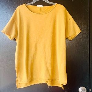 Peach Love California Mustard Sweatshirt Top
